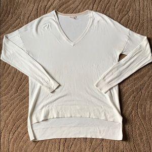 GAP Oversized V-Neck Ivory Sweater, Medium.